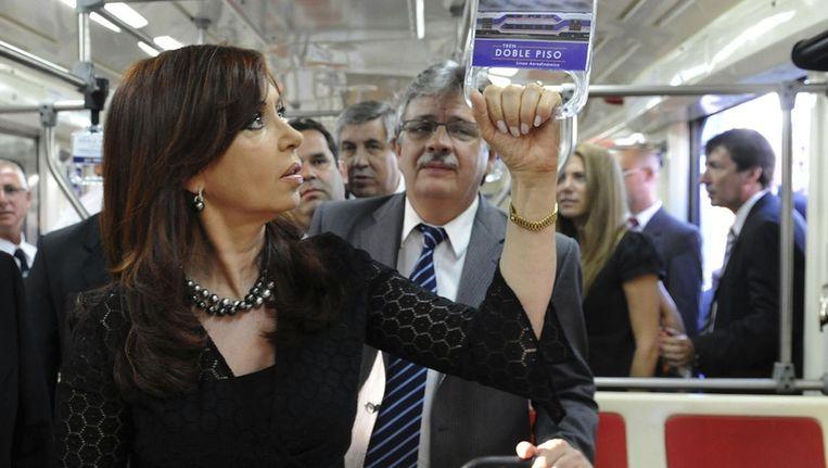 President Cristina Fernandez de Kirchner van Argentinië. Beeld null