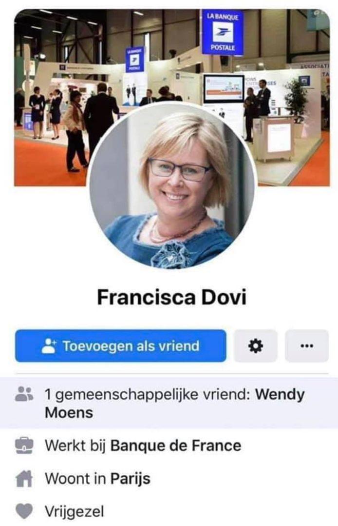 Sabine kreeg ook al de naam Francisca Dovi.