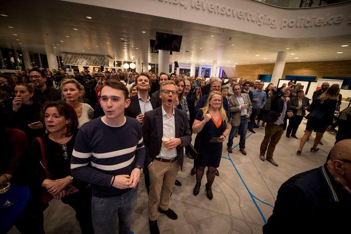 Al vroeg in de avond is er vreugde bij de VVD.