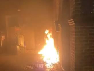 Brandstichting aan voorgevel van slagerij Saerens in Buggenhout
