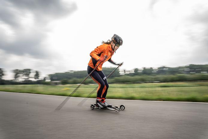Jon Einar Visser is deze zomer op familiebezoek in Nederland. Het trainen gaat gewoon door.