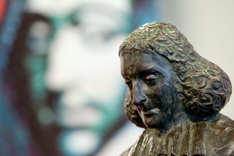 Beeld van Spinoza. Beeld ANP