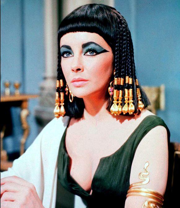 Liz Taylor in de film Cleopatra uit 1963.