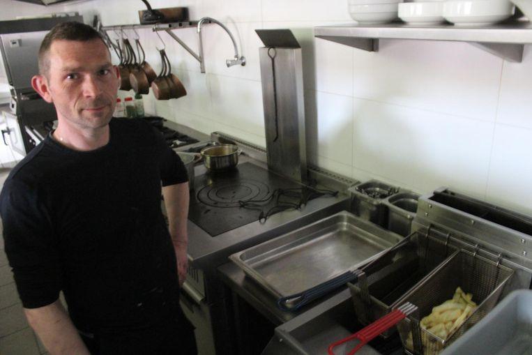 Laurens Dereu van La Commanderie in Westkerke moest even wachten met frietjes bakken.