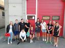 Ook aan de brandweerkazerne daagden al heel wat Lekenaars op.