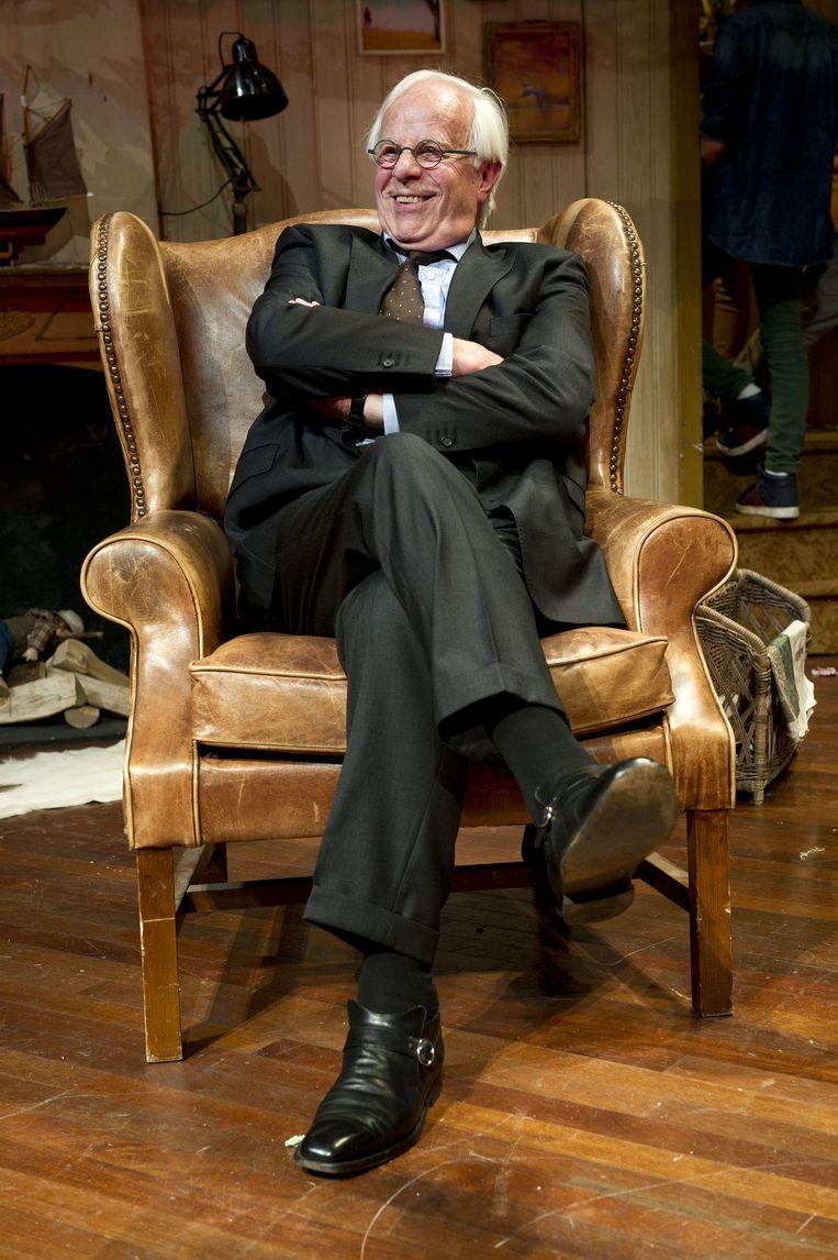 Acteur Bram van der Vlugt in de voorstelling On Golden Pond in het DeLaMar Theater. Beeld anp