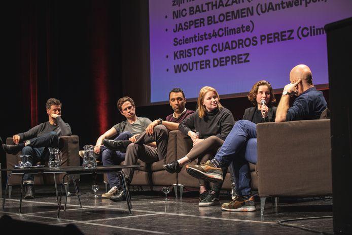 De Klimaatles vond plaats in de Theaterzaal van de Vooruit.
