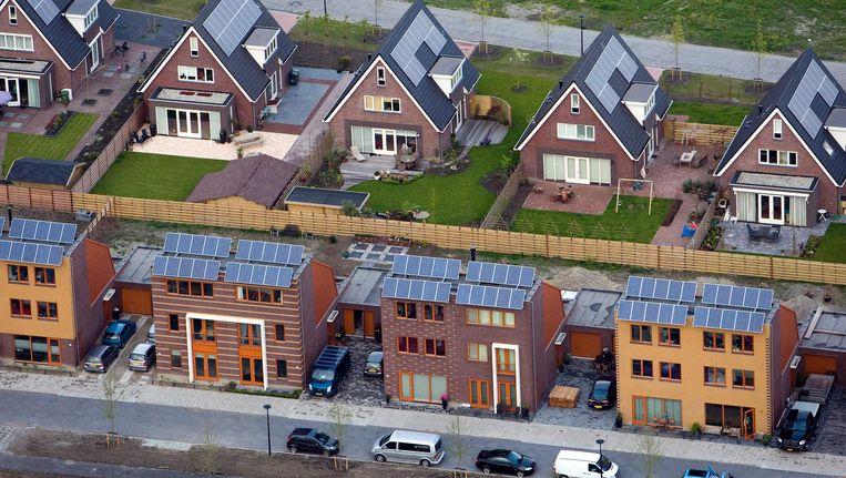 Woonhuizen met zonnepanelen in Heerhugowaard. Beeld anp