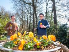 Jonge ondernemers in Putten voeren actie om ouderen een bloeiende plant te brengen