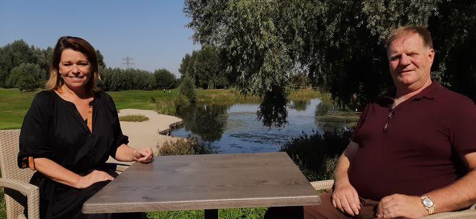 Patty Smit en Toine Berkelmans van Golfcentrum Roosendaal.