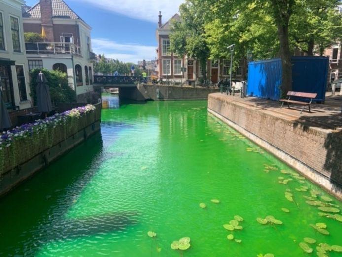 De opvallend felgroene kleur van het water.