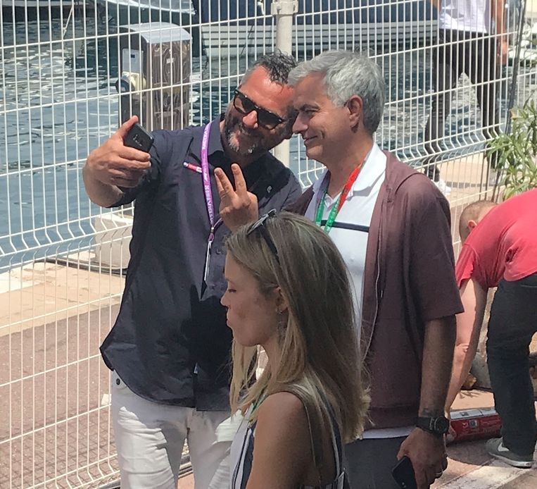 Ook José Mourinho was van de partij.