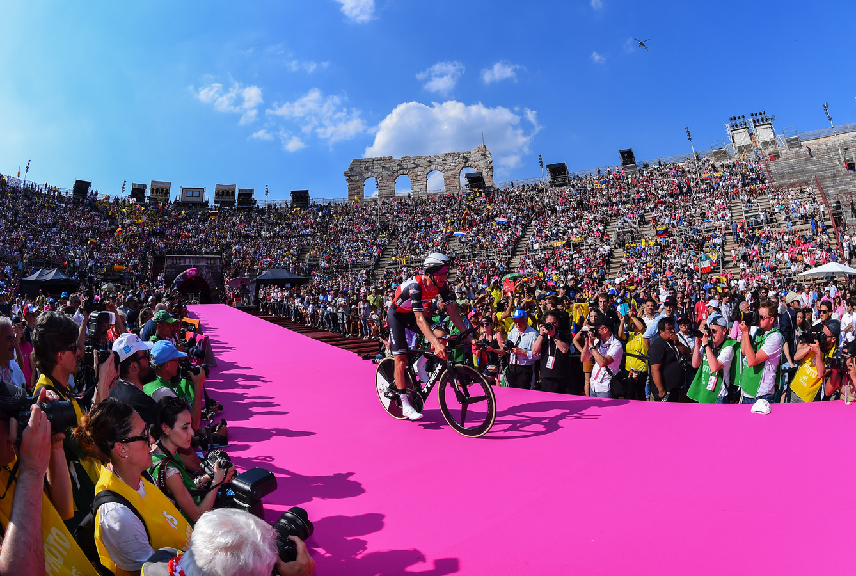 Bauke Mollema in de Arena van Verona.