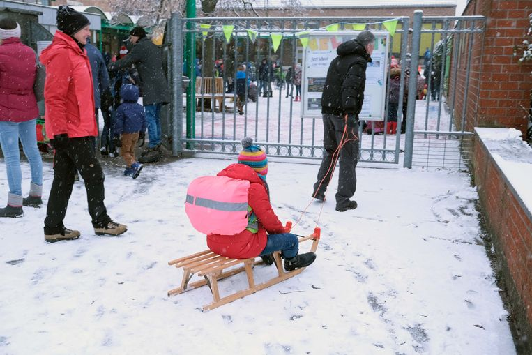 Dankzij de sneeuw worden er alternatieve vervoersmiddelen uit de kast gehaald.
