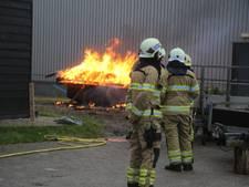 Container in brand gestoken op industrieterrein in Nijkerk