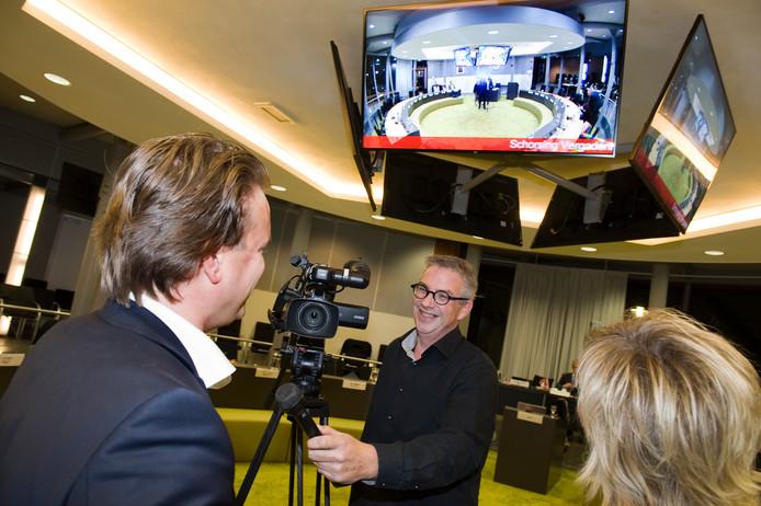 Rini ter Haar van RegioTV Tiel in actie.
