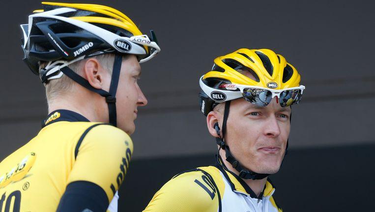 Wilco Kelderman (L) en Robert Gesink Beeld anp
