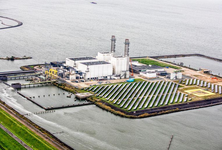 Zonnepanelen bij de Maxima energiecentrale in Lelystad. Beeld Raymond Rutting / de Volkskrant