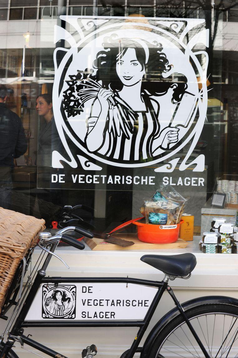 De Vegetarische Slager in Den Haag. Foto Guus Dubbelman / de Volkskrant Beeld