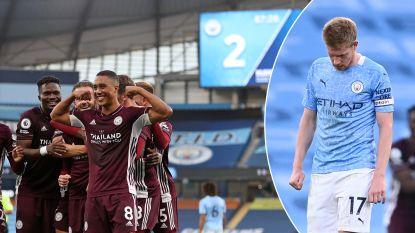 Sensatie in Manchester: De Bruyne buigt hoofd voor Leicester-Belgen na hattrick Vardy en goal Tielemans