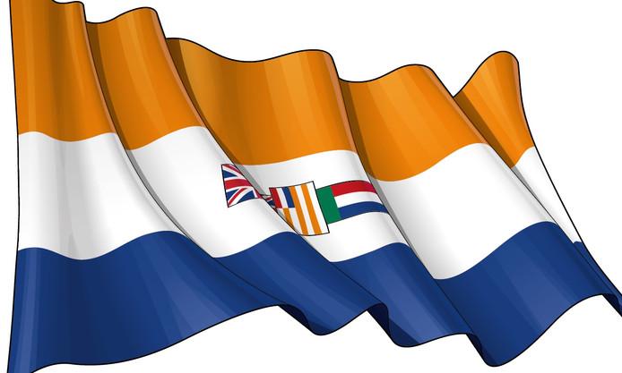 Le drapeau sud-africain de l'époque de l'apartheid.