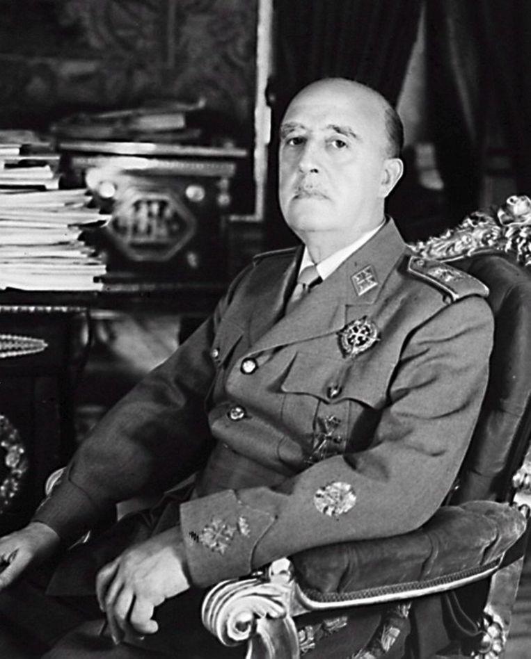 Francisco Franco, die 20 november 1975 overleed, beschouwde het monument als een manier om de 'roden' hun verlies in te peperen. Archieffoto ANP Beeld