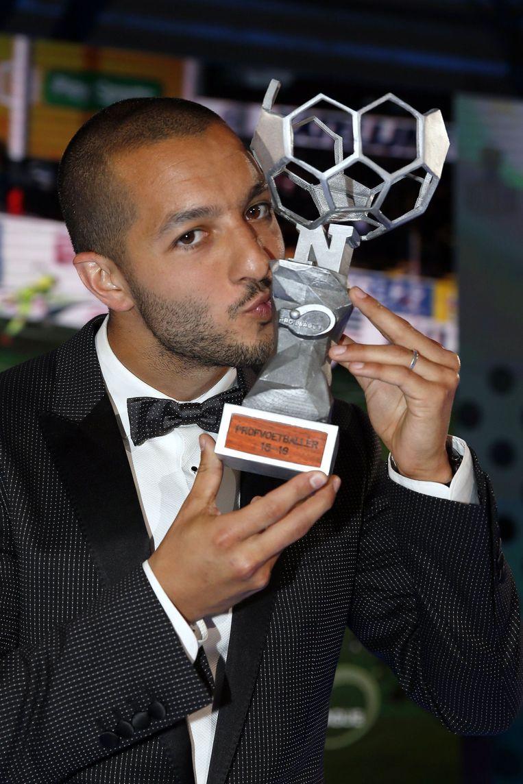 """""""Ik was in eerste instantie eigenlijk verrast dat ik genomineerd werd voor beste voetballer en nu win ik nog ook. Dat is wel heel leuk"""""""