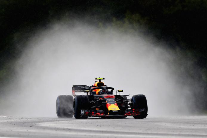 Max Verstappen tijdens de kwalificatie op de Hungaroring.