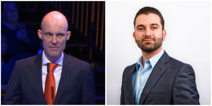 Maurice Meeuwissen (PVV) en Stephan van Baarle (Denk)