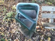De ene na de andere prullenbak sneuvelde op de Veluwe: 'Schade aanzienlijk groter dan eerdere jaren'