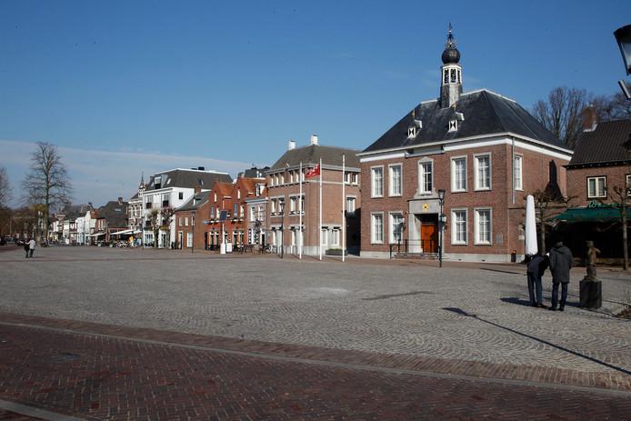 Het Ridderplein in Gemert was in april toneel van een flinke vechtpartij waarbij na later bleek is geschoten.
