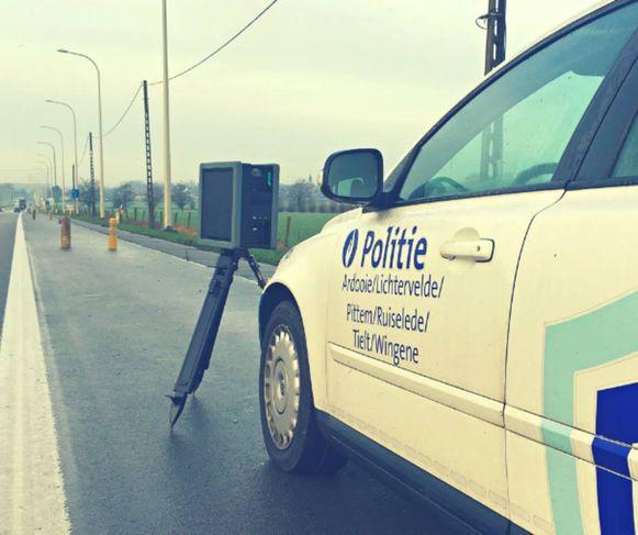 De politie van de zone Regio Tielt controleerde intensief op snelheid.