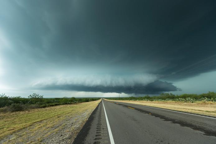 """20 mei, Benavides (Texas): ,,We moesten erg ver voor gaan deze chase. Bijna 7 uur rijden om dit monster onder ogen te komen."""""""