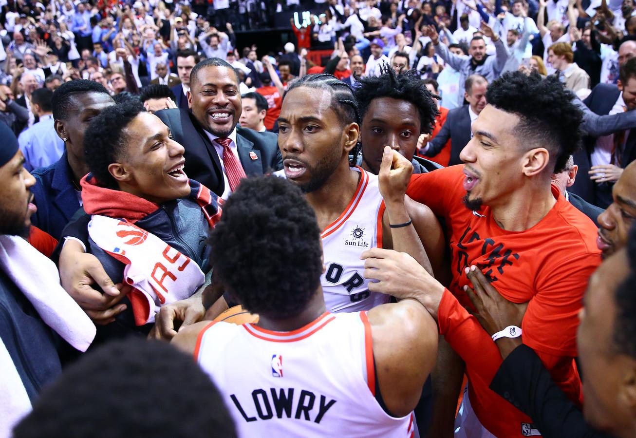 Kawhi Leonard is de gevierde man nadat hij de Raptors aan een finaleplaats in de Eastern Conference heeft geholpen.
