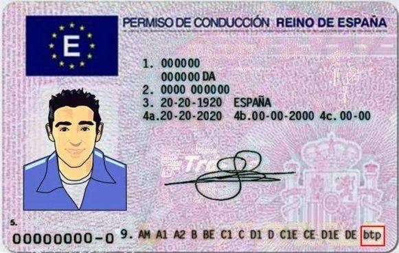 Een Spaans rijbewijs.