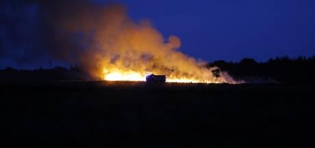 Brandweer rukt uit voor brand op Ginkelse Heide
