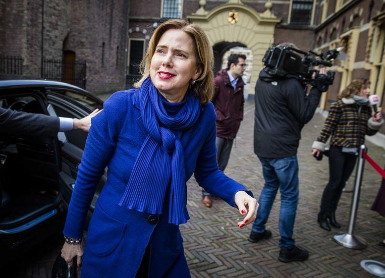 Minister Van Nieuwenhuizen van Infrastructuur en Waterstaat op het Binnenhof.  Beeld ANP