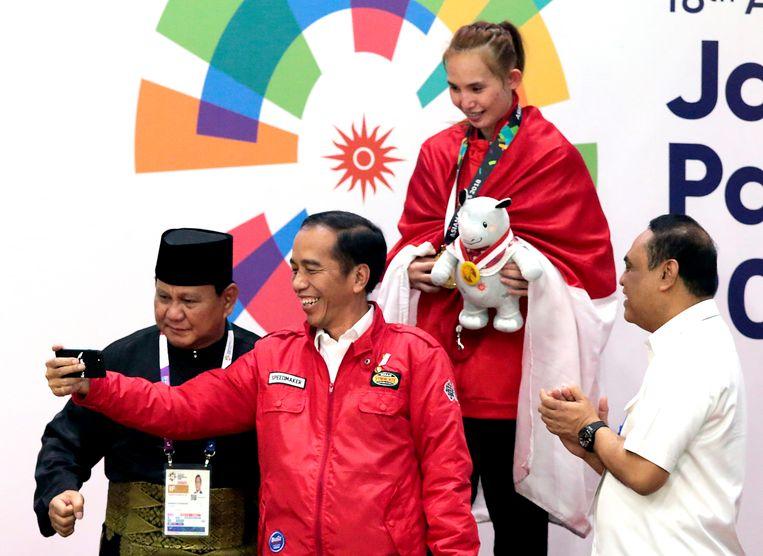 President Joko Widodo (tweede van links).