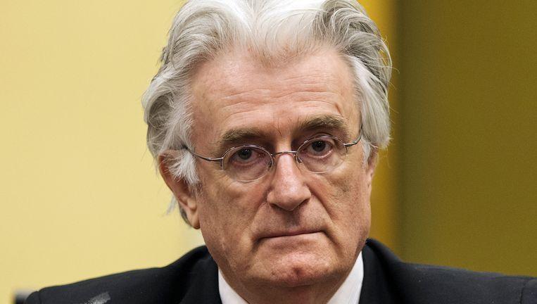 Karadzic in 2013, tijdens zijn verhoor voor het Joegoslaviëtribunaal. Beeld REUTERS