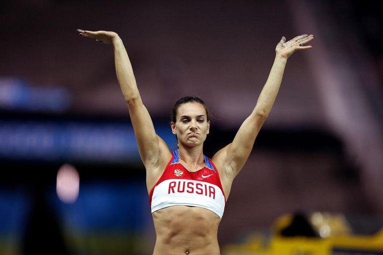De brutaalste zet kwam van Yelena Isinbayeva. Beeld anp