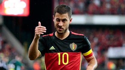 """Hazard op bezoek bij U21: """"Veel succes, ik hoop jullie over enkele jaren bij de Rode Duivels te zien"""""""