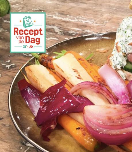 Recept van de dag: Runderburger met gegrilde groente