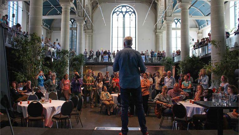 De burgertop begin juni in de Zuiderkerk. In september komt er een vervolg. Beeld Frans Lasès