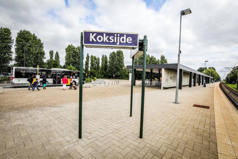 Het Koksijdse station ligt op Veurns grondgebied.