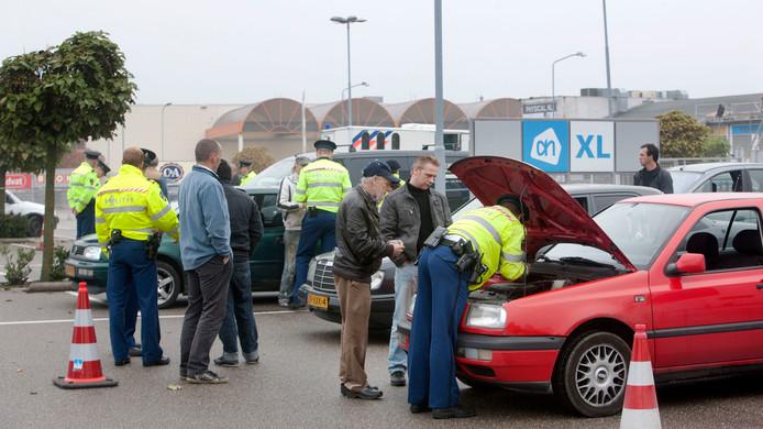 Ook in 2012 hield de politie in Ede een grote verkeerscontrole.