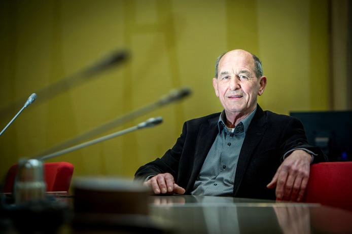 Wiel Bijmans bij zijn afscheid als raadslid van Beuningen in 2018.