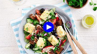 In dit gezonde Griekse slaatje zorgt de feta voor de crunch (ja, echt!)