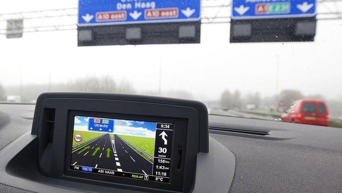 Navigatie-apparatuur van TomTom op archiefbeeld.