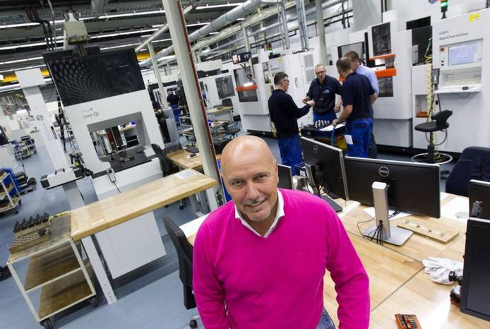 Peter Mertens in de productieruimte van zijn bedrijf. Foto René Manders