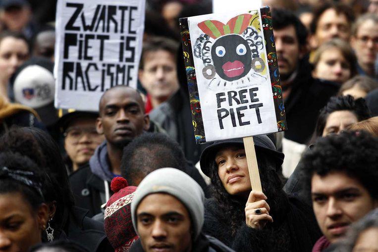 Demonstratie tegen Zwarte Piet Beeld anp